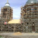 Реставрация фасада церкви в Богучарском районе