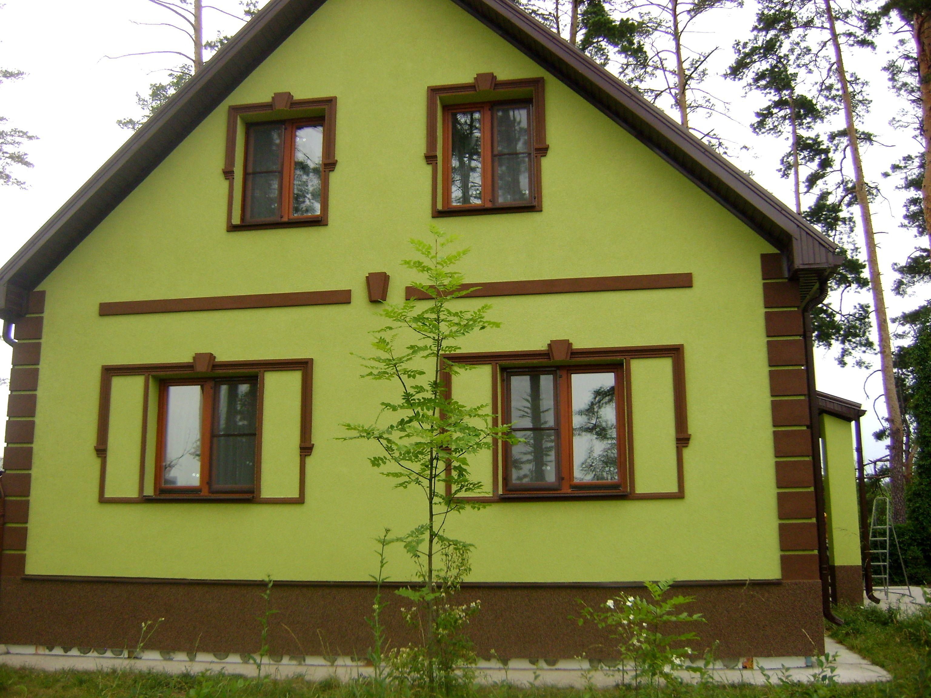 Примеры цветов фасада фото
