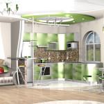 дизайн кухня-гостиная