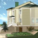 дизайн фасада и ландшафт