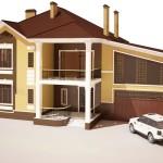 Проект фасада с декором