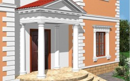 Фасад с декором